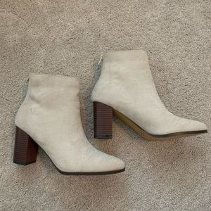 Chase & Chloe Suede Booties